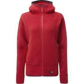 Rab Shearling Jacket Women, ruby